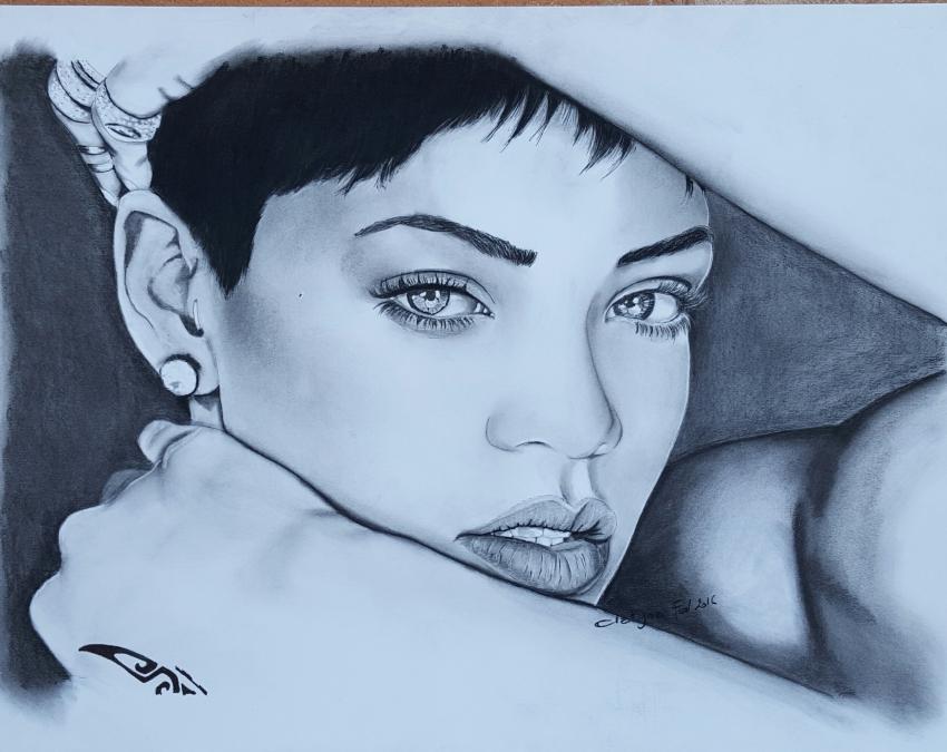 Rihanna by clatyna